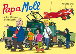 Papa Moll at the museum of transport