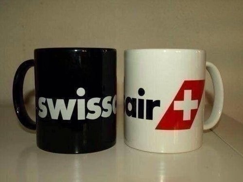 "mug ""swissair"""