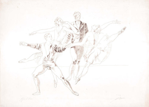 Lithographie 'TAENZER III'