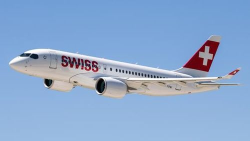 Swiss Bombardier CS300 1:400